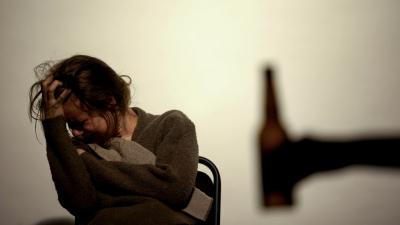 lonely depressed lady